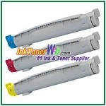 Brother TN-12C TN-12M TN-12Y Compatible Toner Cartridges - 3 Piece Combo