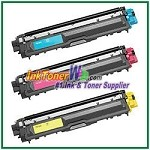 Brother TN-225C TN-225M TN-225Y High Yield Compatible Toner Cartridges - 3 Piece Combo