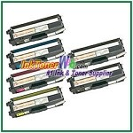 Brother TN-315BK TN-315C TN-315M TN-315Y High Yield Compatible Toner Cartridges - 6 Piece Combo