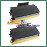 Brother TN550 Compatible Toner Cartridges (High Yield) - 2 Piece