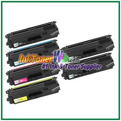 Brother TN-336BK TN-336C TN-336M TN-336Y High Yield Compatible Toner Cartridges - 6 Piece Combo