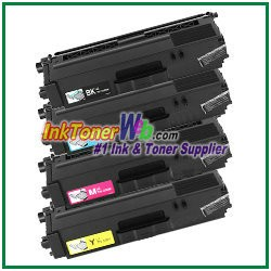 Brother TN-336BK TN-336C TN-336M TN-336Y High Yield Compatible Toner Cartridges - 4 Piece Combo