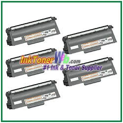 Brother TN750 High Yield Compatible Toner Cartridge - 5 Piece