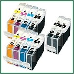 Canon BCI-6 Compatible ink Cartridges - 10 Piece Combo