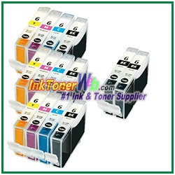 Canon BCI-6 Compatible ink Cartridges - 14 Piece Combo