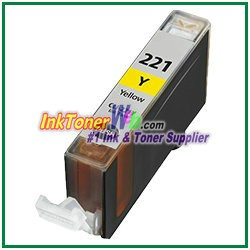 Canon CLI-221 CLI-221Y Compatible Yellow ink Cartridge