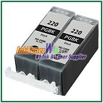 Canon PGI-220 PGI-220BK Compatible photo black ink Cartridge -2 Piece