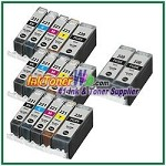 Canon PGI-220 CLI-221 Compatible ink Cartridges - 17 Piece Combo