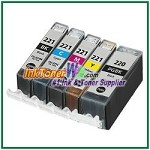 Canon PGI-220 CLI-221 Compatible ink Cartridges - 5 Piece Combo