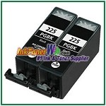 Canon PGI-225 PGI-225BK Compatible photo black ink Cartridge -2 Piece