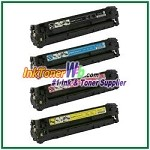 Canon 116 Black Cyan Magenta Yellow Compatible Toner Cartridges - 4 Piece Combo