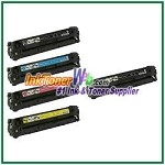 Canon 116 Black Cyan Magenta Yellow Compatible Toner Cartridges - 5 Piece Combo