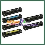 Canon 116 Black Cyan Magenta Yellow Compatible Toner Cartridges - 6 Piece Combo