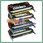 Canon 117 Black Cyan Magenta Yellow Compatible Toner Cartridges - 4 Piece Combo