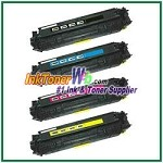 Canon 118 Black Cyan Magenta Yellow Compatible Toner Cartridges - 4 Piece Combo