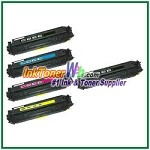 Canon 118 Black Cyan Magenta Yellow Compatible Toner Cartridges - 5 Piece Combo