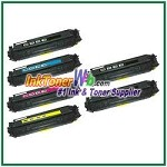 Canon 118 Black Cyan Magenta Yellow Compatible Toner Cartridges - 6 Piece Combo