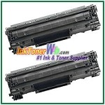 Canon 128 Compatible Toner Cartridges - 2 Piece