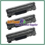 Canon 128 Compatible Toner Cartridges - 3 Piece