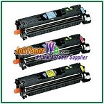Canon EP-87 Cyan Magenta Yellow Compatible Toner Cartridges - 3 Piece Combo