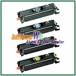 Canon EP-87 Black Cyan Magenta Yellow Compatible Toner Cartridges - 4 Piece Combo