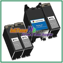 Dell Series 21 Compatible ink Cartridges - 4 Piece Combo