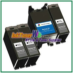 Dell Series 23 Compatible ink Cartridges - 4 Piece Combo