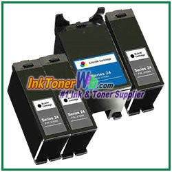 Dell Series 24 Compatible ink Cartridges - 4 Piece Combo
