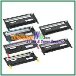 Dell 1230c/1235cn High Yield Black Cyan Magenta Yellow Compatible Toner Cartridges - 6 Piece Combo