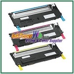 Dell 1230c/1235cn Cyan Magenta Yellow Compatible Toner Cartridges - 3 Piece Combo