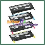 Dell 1230c/1235cn High Yield Black Cyan Magenta Yellow Compatible Toner Cartridges - 4 Piece Combo