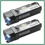 Dell 2130cn/2135cn High Yield Black Compatible Toner Cartridges - 2 Piece