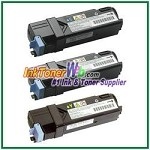 Dell 2130cn/2135cn High Yield Cyan Magenta Yellow Compatible Toner Cartridges - 3 Piece Combo