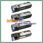 Dell 2130cn/2135cn High Yield Black Cyan Magenta Yellow Compatible Toner Cartridges - 4 Piece Combo