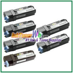 Dell 2130cn/2135cn High Yield Black Cyan Magenta Yellow Compatible Toner Cartridges - 6 Piece Combo