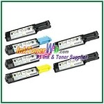 Dell 3000cn/3100cn Black Cyan Magenta Yellow Compatible Toner Cartridges - 6 Piece Combo