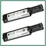 Dell 3010cn Black Compatible Toner Cartridge - 2 Piece