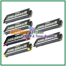 Dell 3110cn/3115cn High Yield Black Cyan Magenta Yellow Compatible Toner Cartridges - 6 Piece Combo
