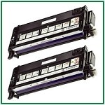 Dell 3130cdn/3130cn High Yield Black Compatible Toner Cartridges - 2 Piece