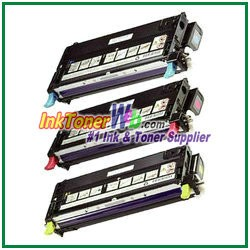 Dell 3130cdn/3130cn High Yield Cyan Magenta Yellow Compatible Toner Cartridges - 3 Piece Combo