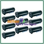 Dell B2360d/ B2360dn/ B3460dn/ B3465dnf Compatible Toner Cartridge - 10 Piece