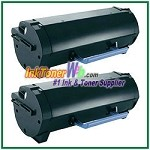 Dell B2360d/ B2360dn/ B3460dn/ B3465dnf Compatible Toner Cartridge - 2 Piece