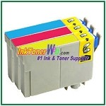 Epson 125 T125220-T125420 Compatible ink Cartridges - 3 Piece Combo