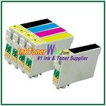 Epson 44 T044120-T044420 Compatible ink Cartridges - 5 Piece Combo