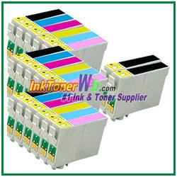 Epson 98 T098120-T098620 Compatible ink Cartridges - 20 Piece Combo
