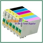 Epson 98 T098120-T098620 Compatible ink Cartridges - 6 Piece Combo