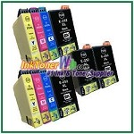 Epson 252XL T252XL120-T252XL420 Compatible ink Cartridges - 10 Piece Combo