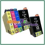 Epson 252XL T252XL120-T252XL420 Compatible ink Cartridges - 5 Piece Combo