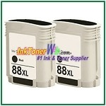 HP 88XL C9396AN Compatible Black ink Cartridge -2 Piece
