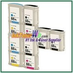 HP 88XL C9396AN C9391AN-C9393AN Compatible ink Cartridges - 10 Piece Combo